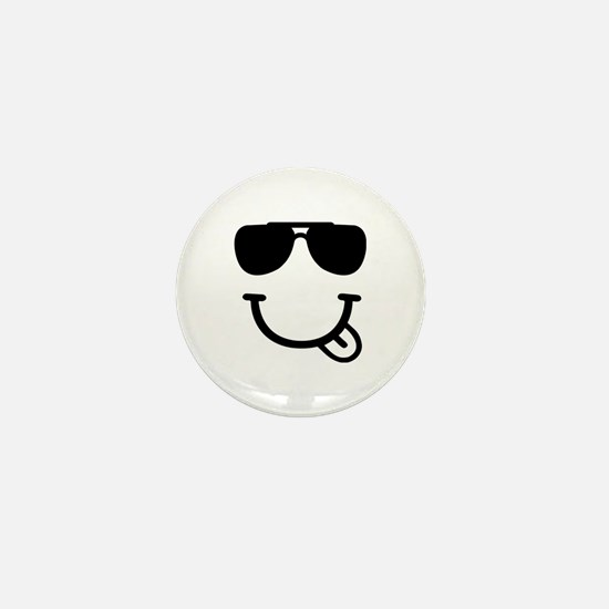 Smiley face sunglasses Mini Button