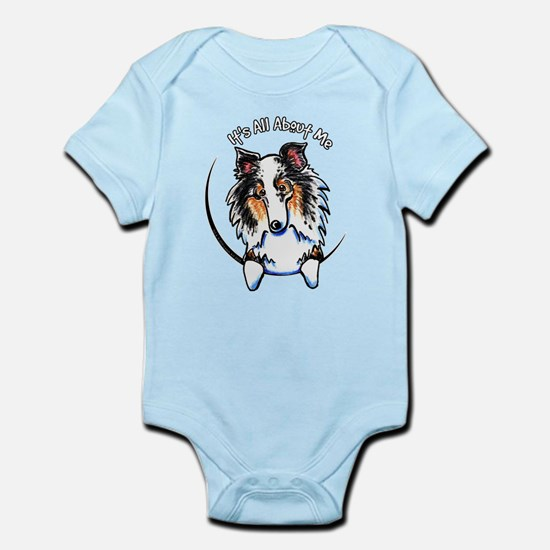Blue Merle Sheltie IAAM Infant Bodysuit