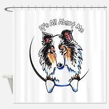 Blue Merle Sheltie IAAM Shower Curtain
