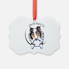 Blue Merle Sheltie IAAM Ornament