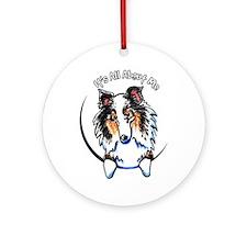 Blue Merle Sheltie IAAM Ornament (Round)