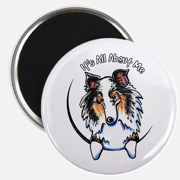 "Blue Merle Sheltie IAAM 2.25"" Magnet (10 pack)"
