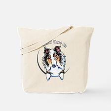 Blue Merle Sheltie IAAM Tote Bag