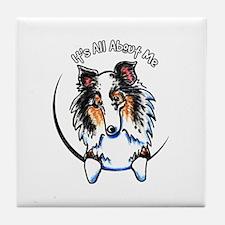 Blue Merle Sheltie IAAM Tile Coaster