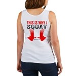 THIS IS WHY I SQUAT - WHITE Tank Top