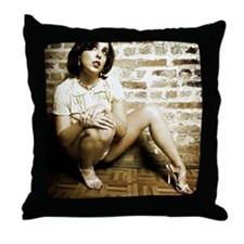 Pretty Girl in Lingerie Throw Pillow