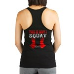THIS IS WHY I SQUAT - BLACK Racerback Tank Top