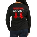 THIS IS WHY I SQUAT - BLACK Long Sleeve T-Shirt