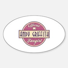 Official Andy Griffith Fangirl Oval Decal