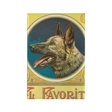 Vintage German Shepherd Cigar Lab Rectangle Magnet