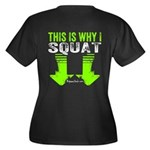 THIS IS WHY I SQUAT - LIME Plus Size T-Shirt