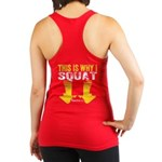 THIS IS WHY I SQUAT - YELLOW Racerback Tank Top