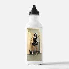Woman in Short Vinyl F Water Bottle