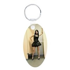 Woman in Short Vinyl Fetish Keychains