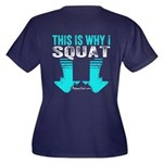 THIS IS WHY I SQUAT - TEAL Plus Size T-Shirt