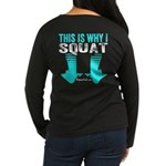 THIS IS WHY I SQUAT - TEAL Long Sleeve T-Shirt