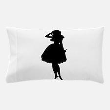 Woman In Dress Silhouette Pillow Case
