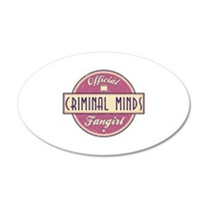 Official Criminal Minds Fangirl 22x14 Oval Wall Pe