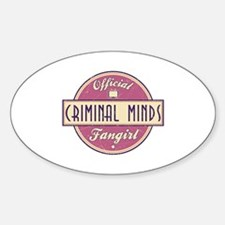 Official Criminal Minds Fangirl Oval Decal