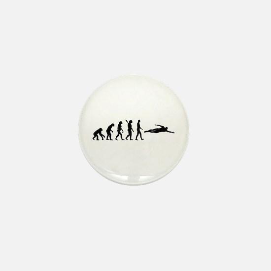 Swimming evolution Mini Button