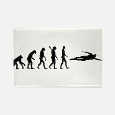 Swimming evolution Rectangle Magnet (100 pack)