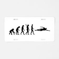 Swimming evolution Aluminum License Plate