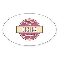 Official Dexter Fangirl Oval Decal