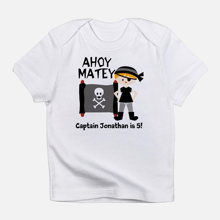 Cute Birthday pirate theme Infant T-Shirt