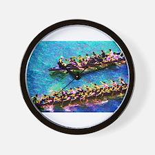 Dragon Boats e2 Wall Clock