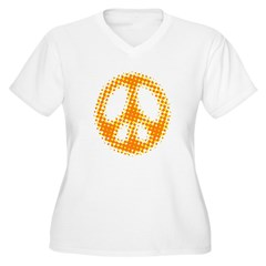 GIVE PEACE A CHANCE Women's Plus Size V-Neck Tee