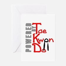 Powered by Tae Kwon Do Greeting Cards (Pk of 10)