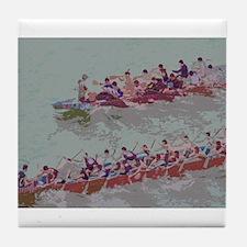 Dragon Boats e4 Tile Coaster