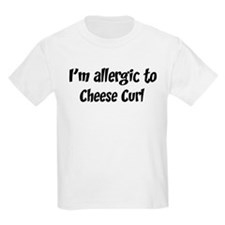 Allergic to Cheese Curl T-Shirt
