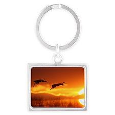 cranes Landscape Keychain