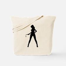 Dominatrix Silhouette Tote Bag