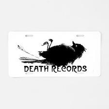 Cute Records Aluminum License Plate