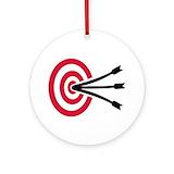Archery Round Ornaments