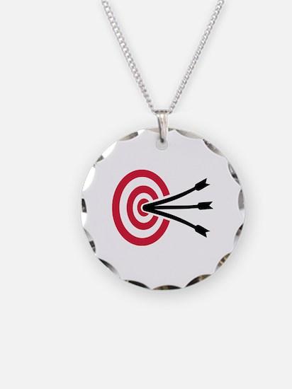 Archery target Necklace