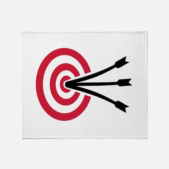 Archery target Throw Blanket