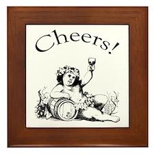 English Toast Wine Framed Tile