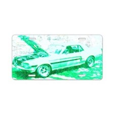 Classic Car in Green Aluminum License Plate