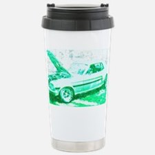 Classic Car in Green Stainless Steel Travel Mug