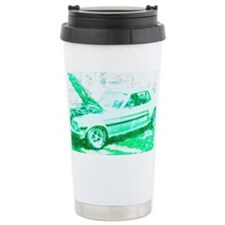 Classic Car in Green Travel Mug