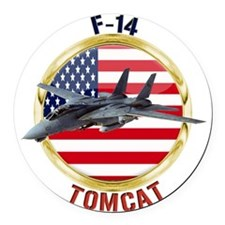 F-14 Tomcat Round Car Magnet