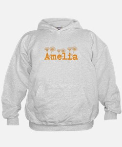 Orange Amelia Name Hoodie