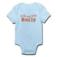 Orange Emily Name Body Suit