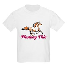 Pink Mustang Chic T-Shirt