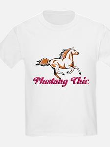 Pink Mustang Chic T-Shirt