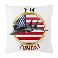 F-14 Tomcat Woven Throw Pillow