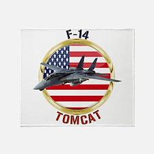 F-14 Tomcat Throw Blanket